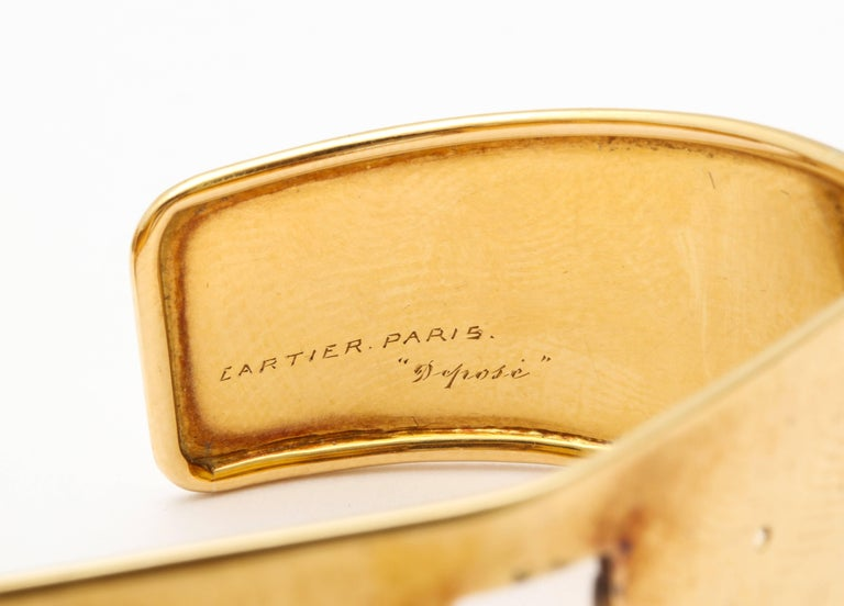 Retro 1930s Cartier Paris Citrine Clip Bangle Combination Set For Sale