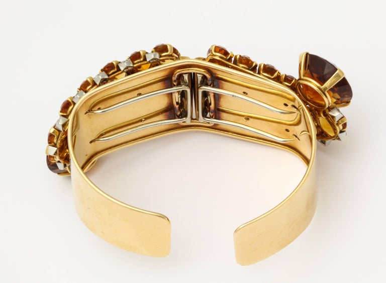 1930s Cartier Paris Citrine Clip Bangle Combination Set For Sale 4