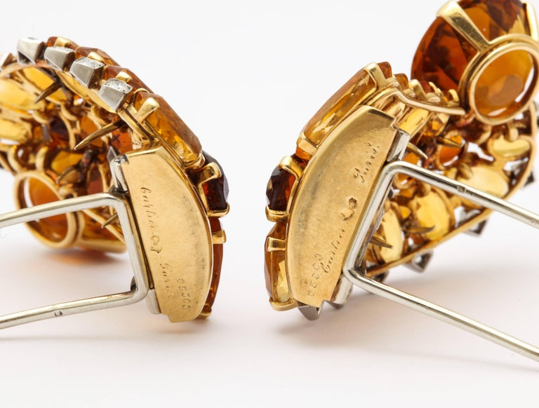 1930s Cartier Paris Citrine Clip Bangle Combination Set For Sale 1