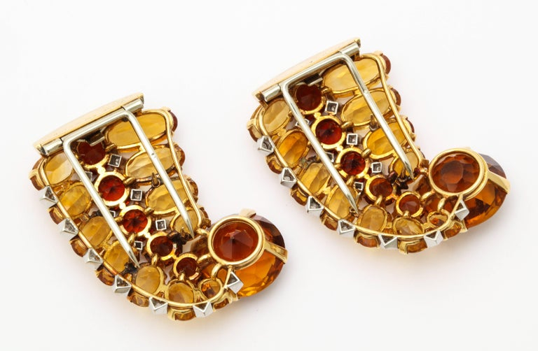 1930s Cartier Paris Citrine Clip Bangle Combination Set For Sale 3