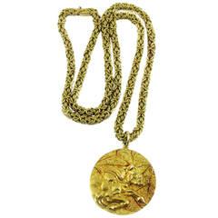 Tiffany & Co. Gold Taurus Zodiac Pendant Necklace