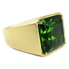 Tiffany & Co. Paloma Picasso Rare Gem Peridot Gold Ring