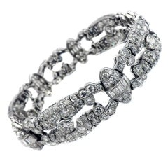 1930s Art Deco Diamond Platinum Bracelet