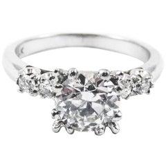 Art Deco Old European Cut 1.10 Carat GIA Certified Diamond Engagement Ring