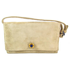 1930s Cartier Paris Suede Lapis lazuli Gold Purse