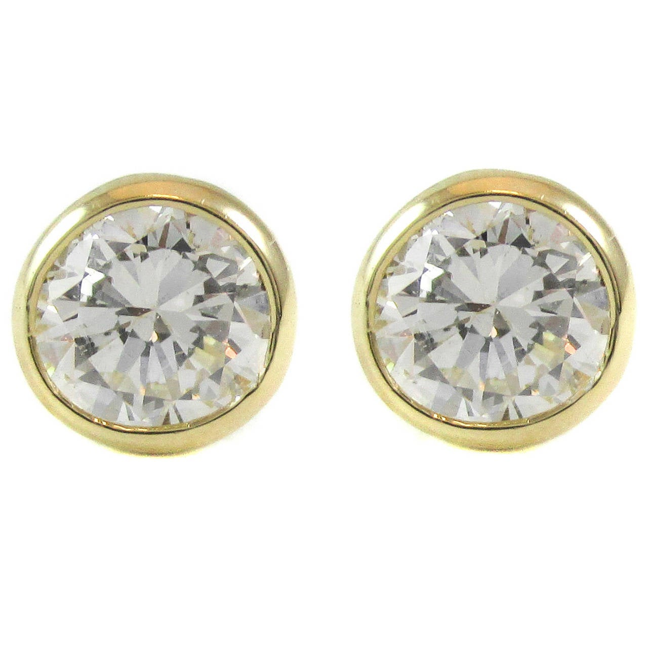 1 carat stud earrings sale 1 carat gold stud earrings for sale at 1stdibs 5904