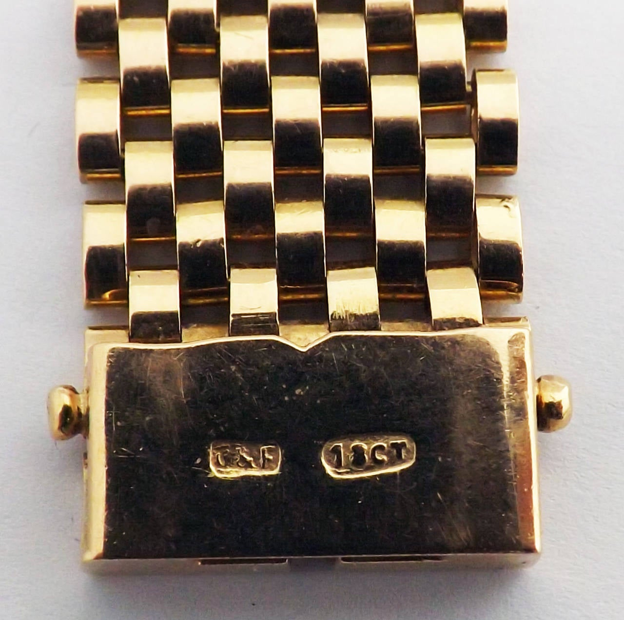 Retro Multi Gem Set Gold Bracelet For Sale 1