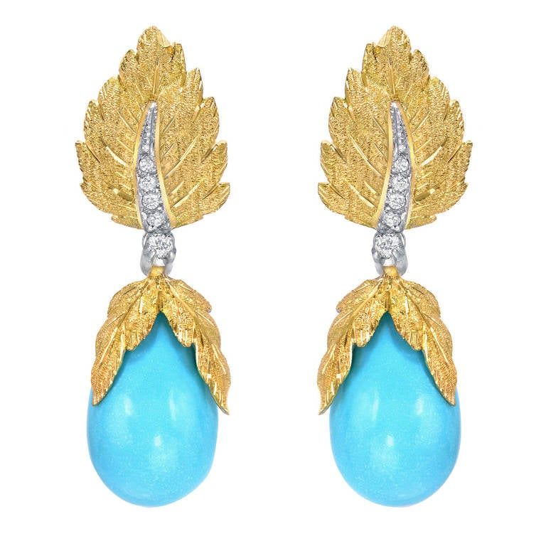 vibrant florentine style turquoise and yellow gold