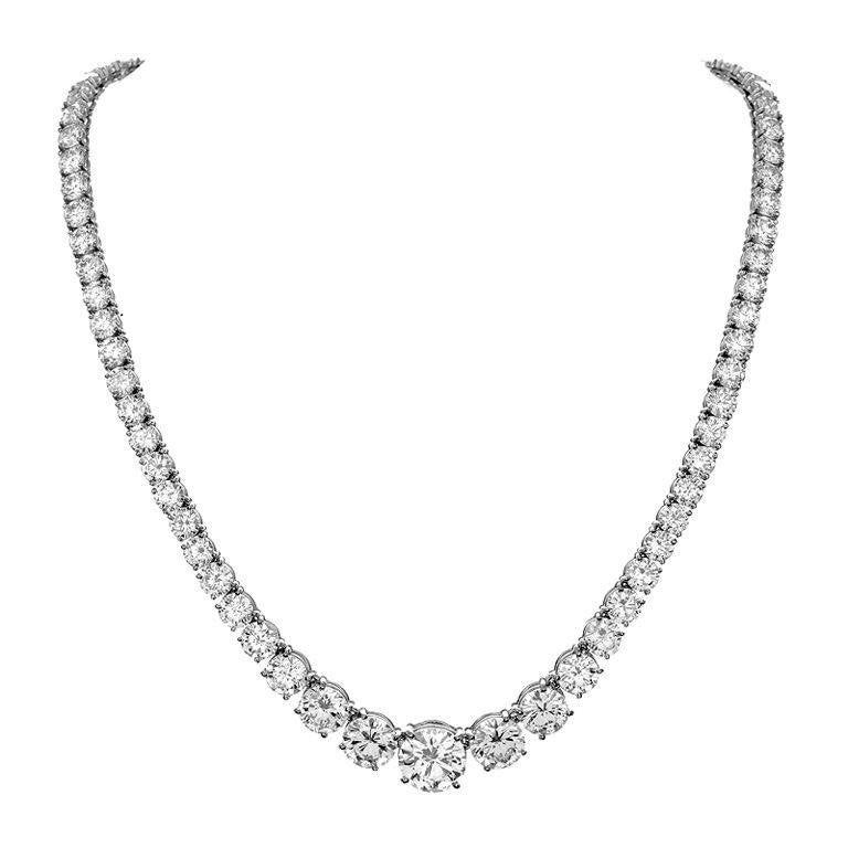 Important Diamond Riviere Necklace