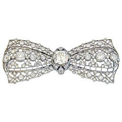 Edwardian Diamond Platinum Brooch