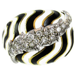 David Webb Diamond Platinum Bombe Ring
