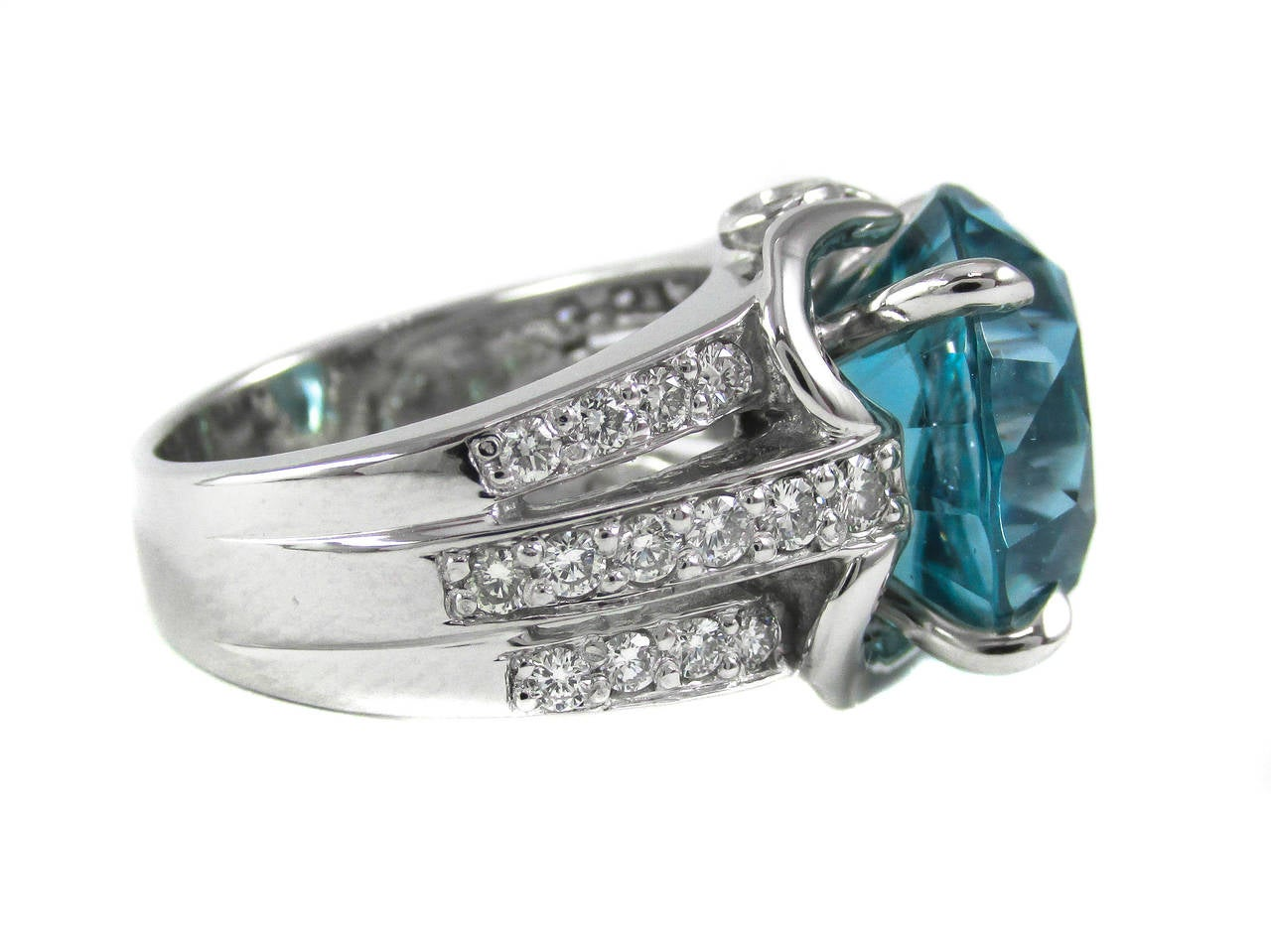 electric blue zircon white gold ring for sale at