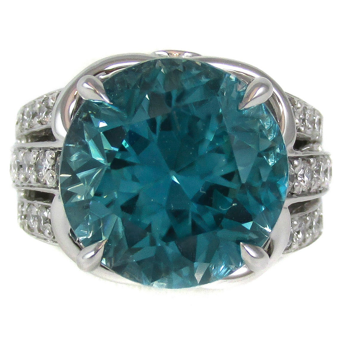 electric blue zircon white gold ring at 1stdibs