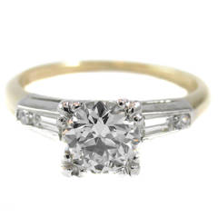 Classic 0.87 Carat Old European Cut Diamond Engagement Ring