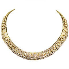 Cartier Paris Diamond Gold Necklace