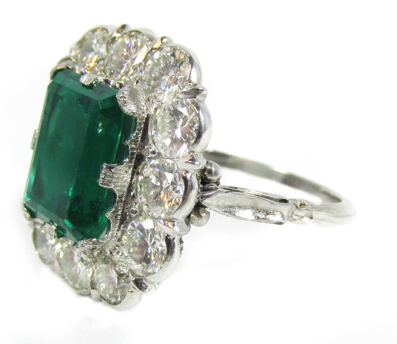 buccellati russian emerald platinum ring at