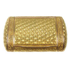 Antique French Gold Snuff Box