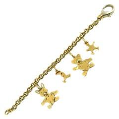 Pomellato Yellow Gold Charm Bracelet