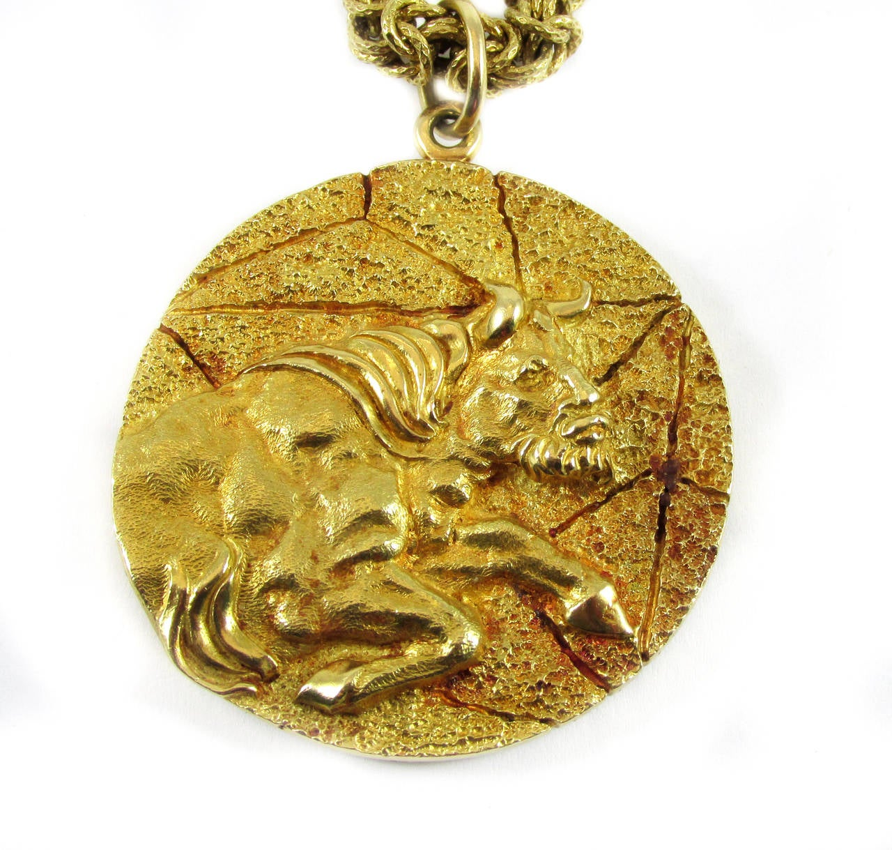 Tiffany And Co Gold Taurus Zodiac Pendant Necklace At 1stdibs