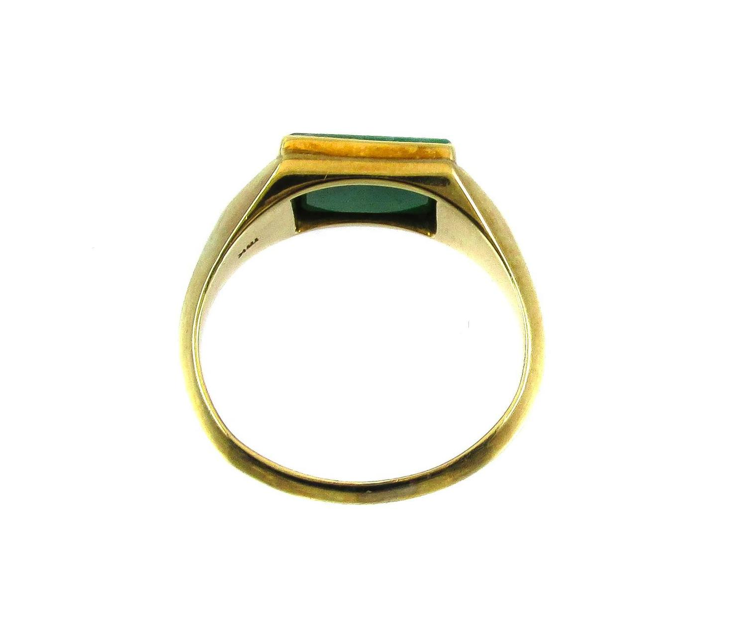 jade yellow gold ring at 1stdibs