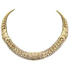 Cartier Paris Diamond Gold Necklace