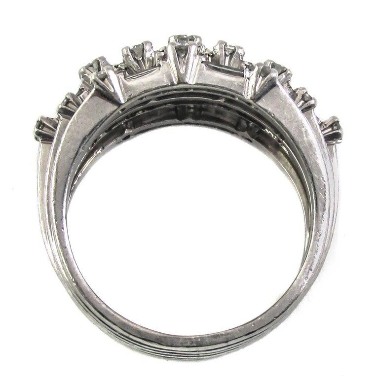 Women's 1950s Diamond Platinum Ring For Sale
