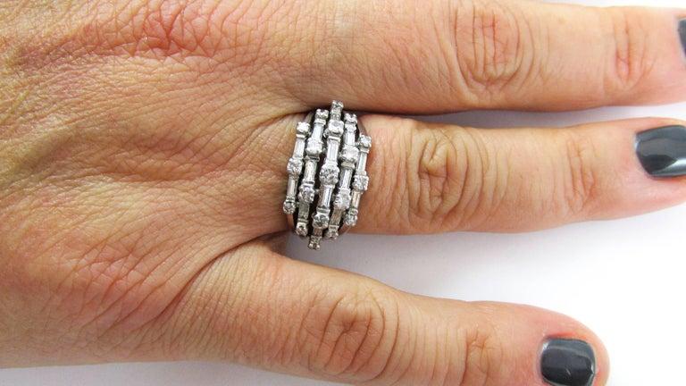 1950s Diamond Platinum Ring For Sale 1