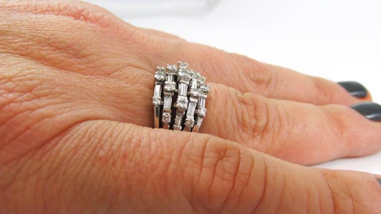 1950s Diamond Platinum Ring For Sale 2