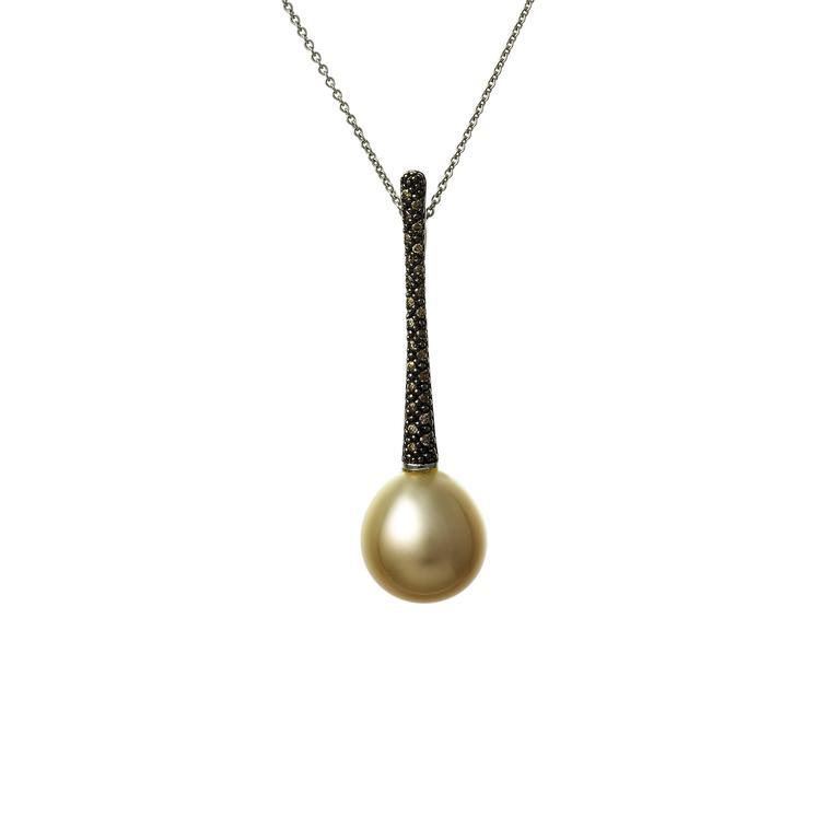 Lust pearls 055 carat cognac diamond golden south sea pearl pendant womens lust pearls 055 carat cognac diamond golden south sea pearl pendant earring set for sale aloadofball Gallery