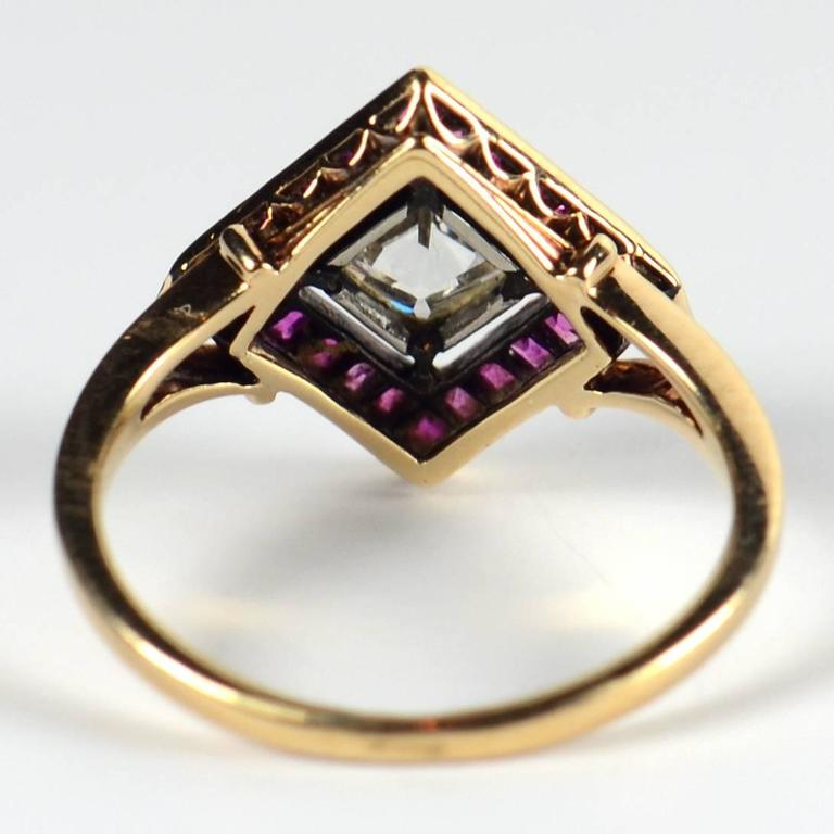 Edwardian 1.20 Carat Diamond Ruby Ring For Sale 3