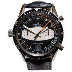 Breitling Stainless Steel Chronomatic Date Automatic Wristwatch Ref 2130