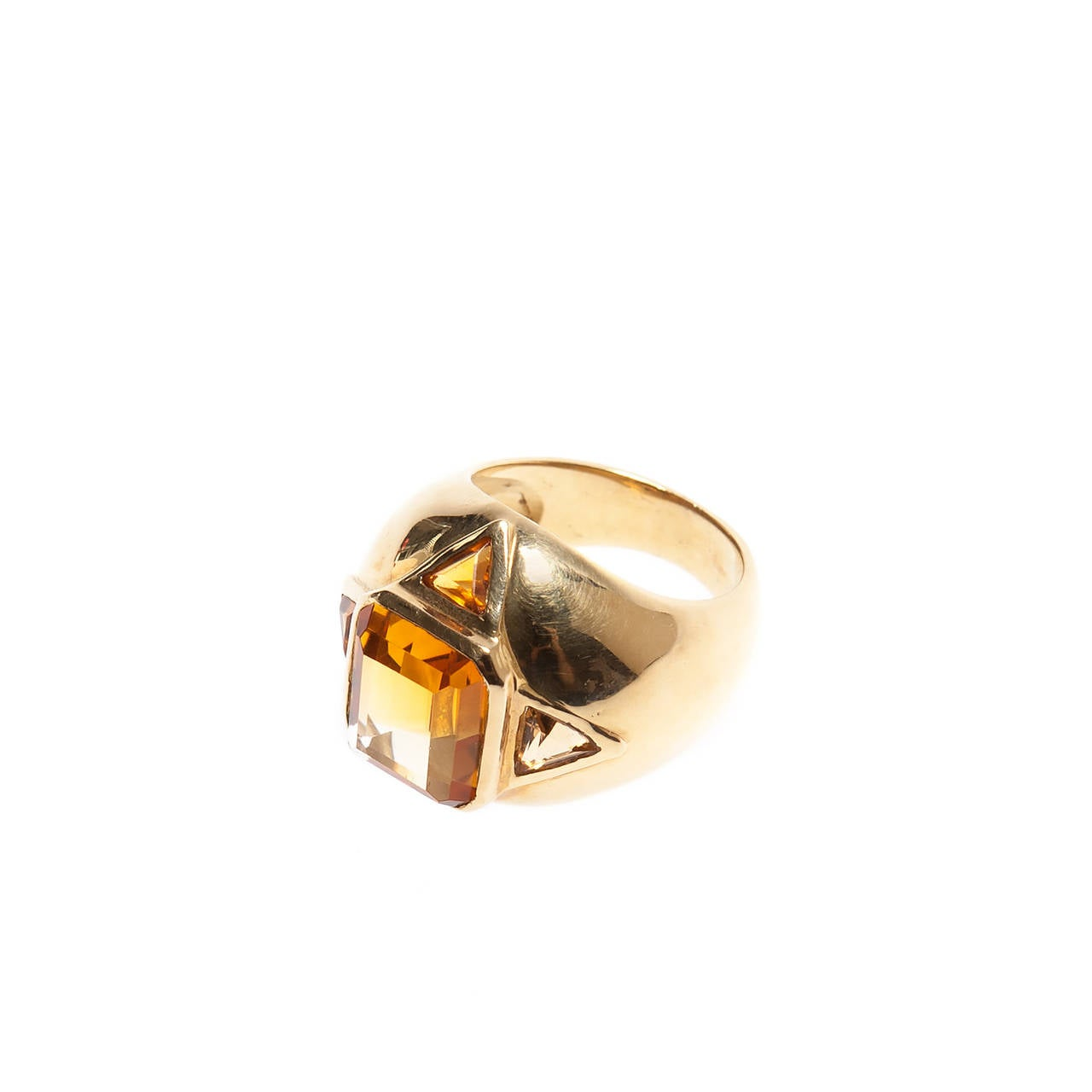 renato cipullo vintage citrine ring for sale at 1stdibs