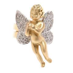 Renato Cipullo Diamond Pave & Gold Cupid Ring