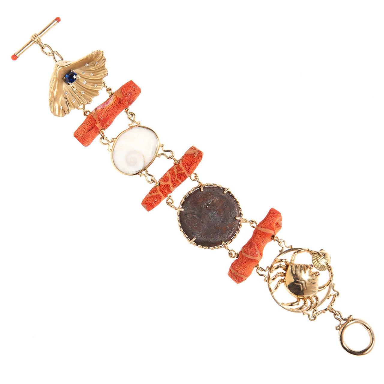Renato Cipullo Coral Gold Bracelet