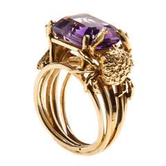 Renato Cipullo 7 Carat Amethyst Gold Ring