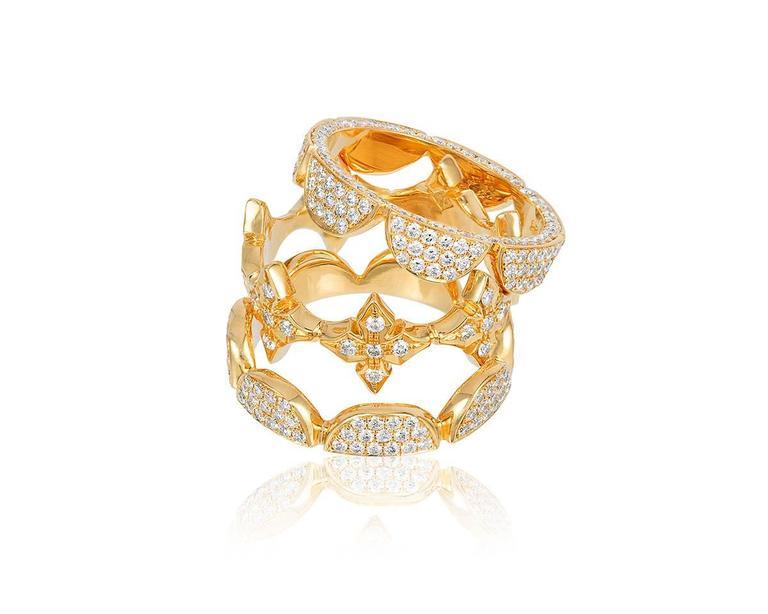 Renato Cipullo Diamond Gold Stacking Rings 3