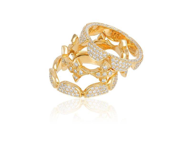 Renato Cipullo Diamond Gold Stacking Rings 4