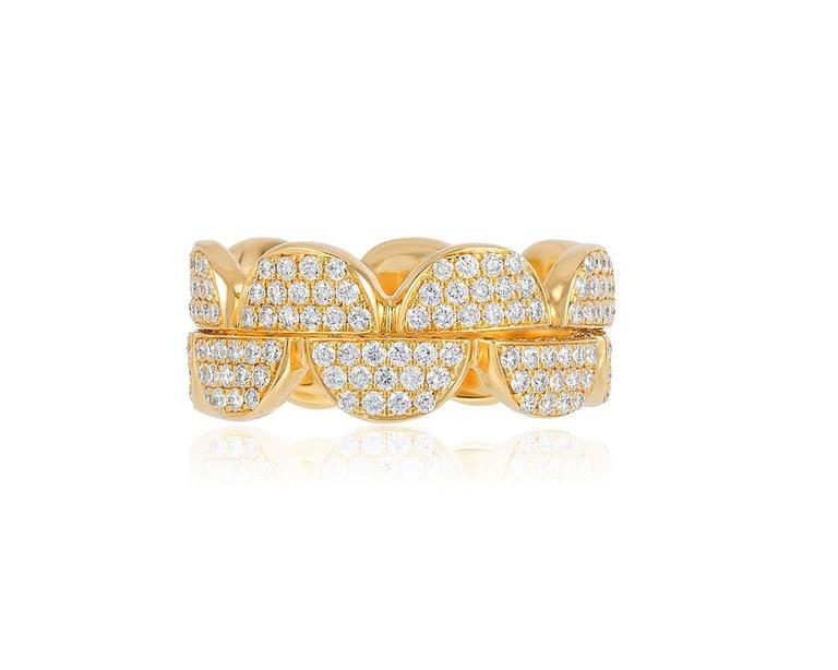 Renato Cipullo Diamond Gold Stacking Rings 5