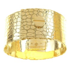 Renato Cipullo Patterned Gold Cuff Bracelet