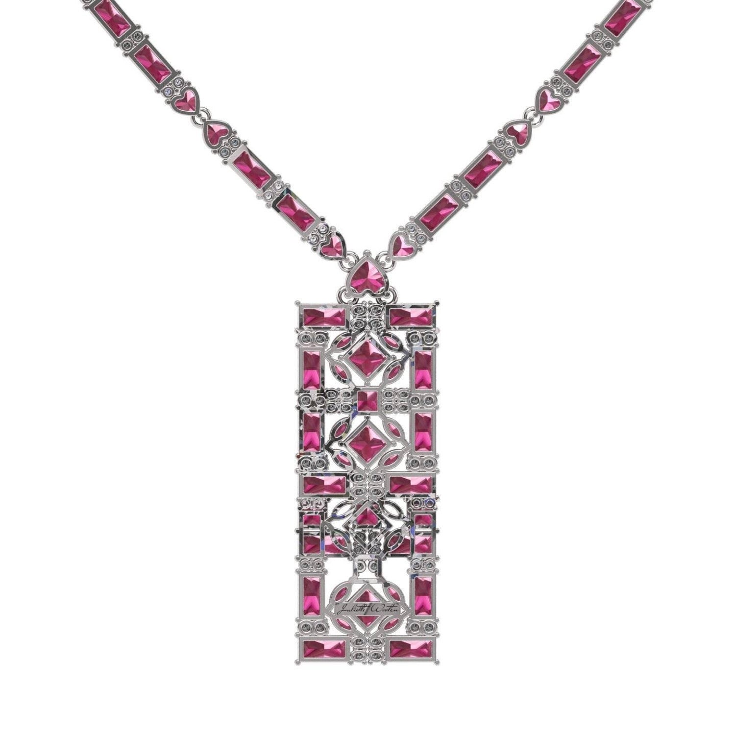heart wooten master for diamond juliette pendant render gold tormaline j id necklaces pink white earrings jewelry tourmaline at baguette necklace sale