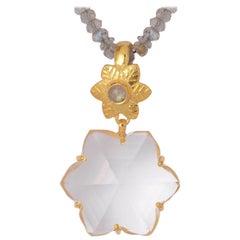 Emma Chapman Crystal Labradorite Gold Plate Pendant