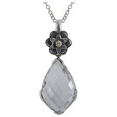 Emma Chapman Diamond Crystal 18 Karat Yellow Gold Silver Pendant