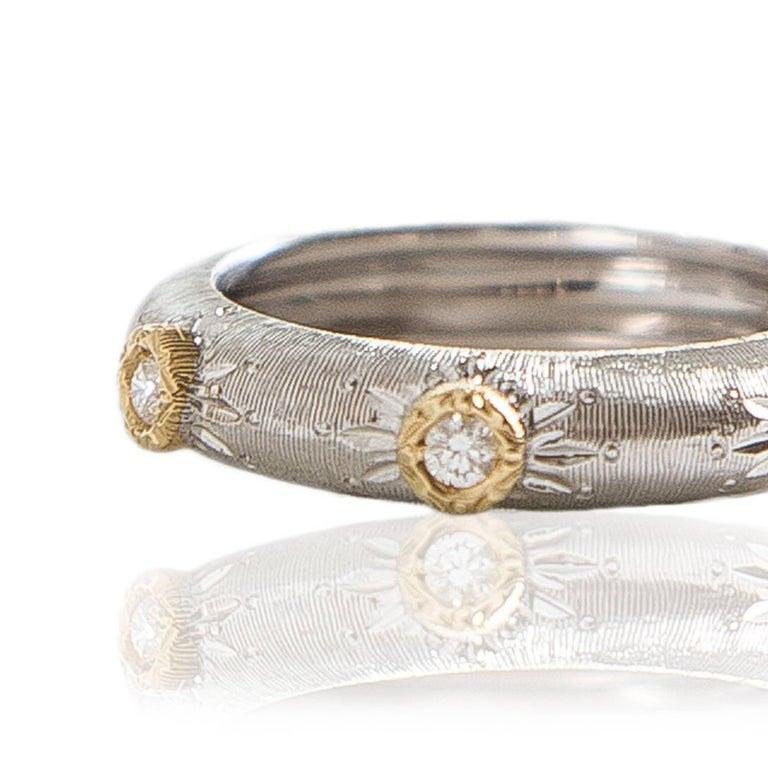 white gold ring with white diamonds by opera italian