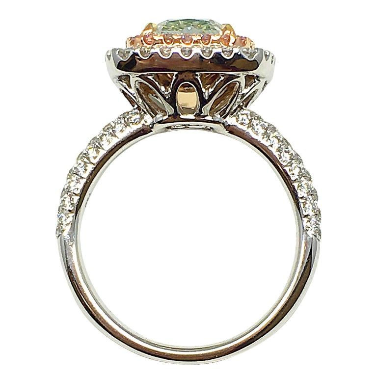 Fancy Light Green Diamond Ring