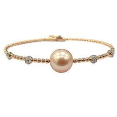 GILIN Freshwater Pearl Diamond Bangle