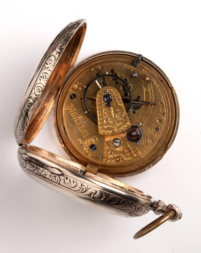 Joseph Johnson Liverpool Yellow Gold Hunter Pocket Watch, circa 1820s 2