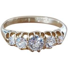 Antique Diamond Ladies Eternity Ring 0.59 Carat