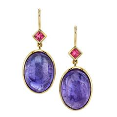 Tanzanite and Spinel Earrings