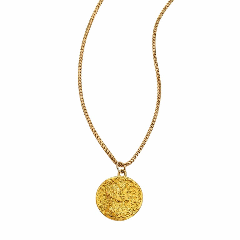 salvador dali gold coin pendant for sale at 1stdibs