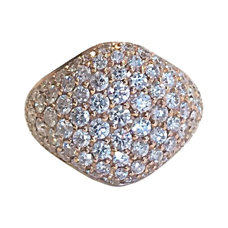 Diamond Signet Pinky Ring at 1stdibs